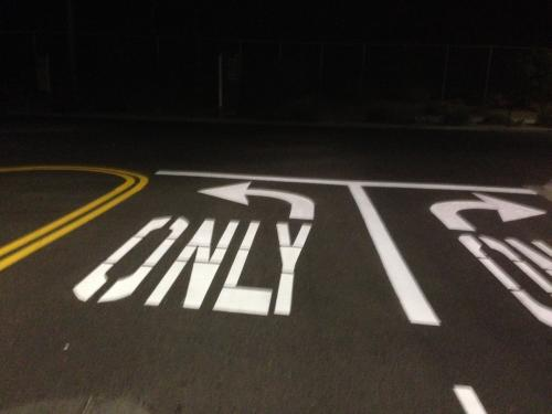 Photo Striping Only Arrow sign